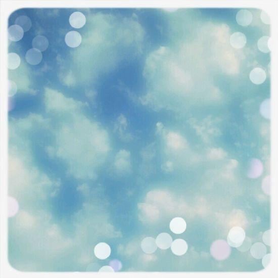 the sky looks like a painting