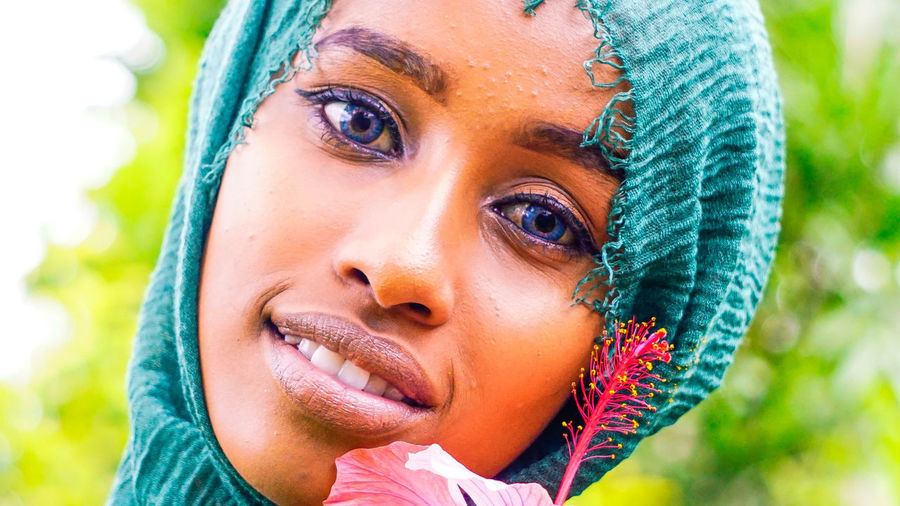 if looks could kill Blue Eyes Love The Portraitist - 2018 EyeEm Awards African Beauty Beautiful Woman Close-up Diverse Headshot Human Face Humanrace Looking Modest Outdoors Portrait Real People Young Adult Young Women
