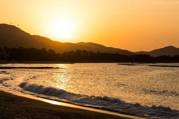 Japan Photography ASIA Asian  Japan Japan Photography Meer Sea Wall Beach Breakwater Hagi Ocean Sea Summer Sunset