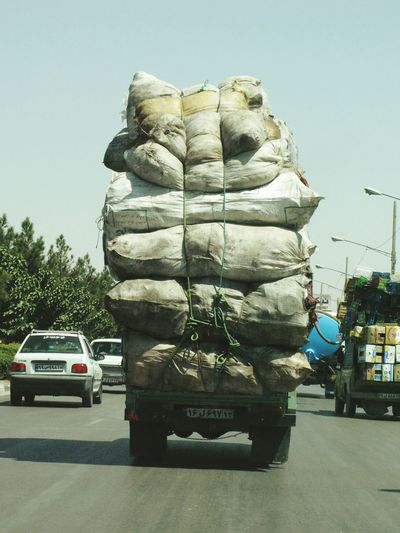 Load Pick Up Truck Middle East Travel Safety On The Road Wheels Overload Careless Touching The Sky Almost Summer