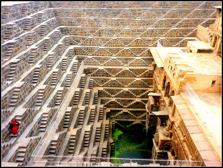 Chand Baori Abhaneri Amazing Architecture Built Structure Historic India Low Angle View Rajesthan Step Well Travel Photography Urban Lifestyle Miles Away Minimalist Architecture