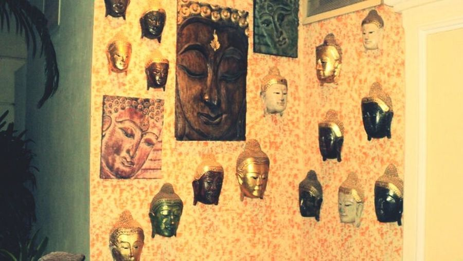 Buddha Image Buddha Face Interior Design Interior Views Buddha Wall Quite Place Relaxing Time Q Calm & Cool Art Is Everywhere