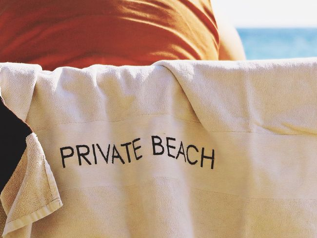 Alassio Beach Life Beach Photography Relaxing Sitting Sitting Outside Towl Beach Beachphotography Close-up Communication Day Hotel Indoors  Italy Privat Private Private Beach Real People Relax Sea Sunbed Text Water