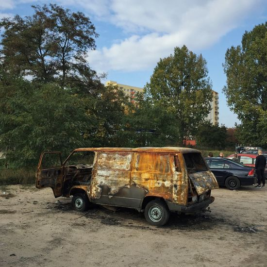 What Remains Of A Burnt-Down Beauty - Gdynia 21 October 2015 ( IPhone 6+ ) IPhoneography Iphone 6 Plus Car Wreckage Wreck Van EyeEmBestPics EyeEm Best Shots EyeEm Best Edits EyeEm Masterclass Gdynia Poland Abandoned Burntout Streetphotography