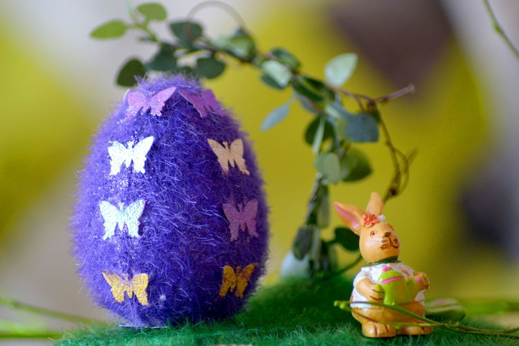 Close-Up Of Decorated Easter Egg