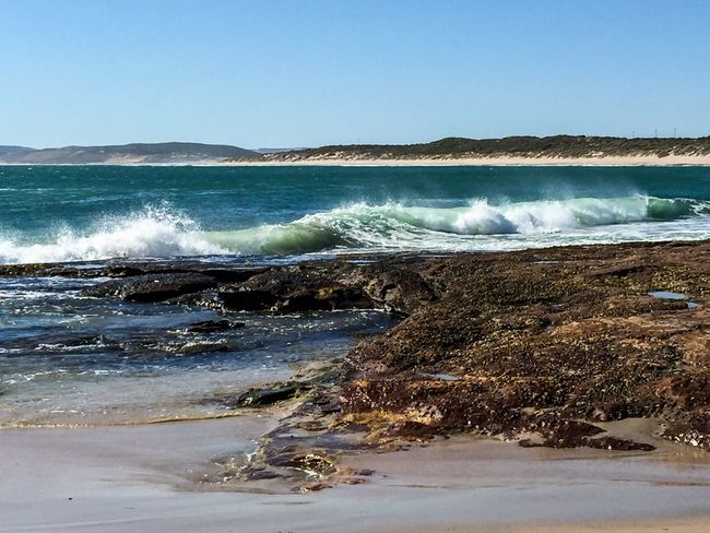 Indian Ocean Waves Landscape Coastline Kalbarri Australia Beach Photography Beach Western Australia Jake's Point Indian Ocean Ocean And Sky Nature Seascape Rock Sea Blue Water Waves Tide Water_collection Ocean Meditation Travel Photography Stress Relief Travel Destinations