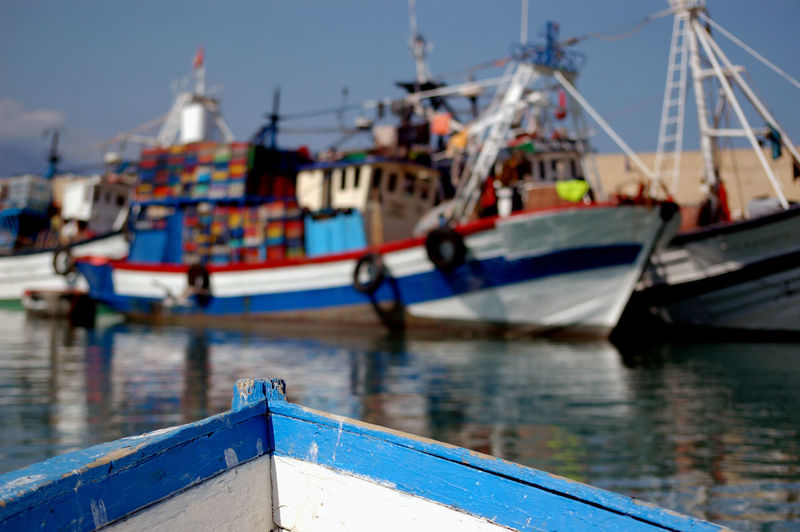 Hard Work Transportation Architecture Blue Built Structure Canal Day Fishing Boat Focus On Foreground Harbor Mid Day Mode Of Transportation Moored Nature Nautical Vessel No People Outdoors Reflection Sailboat Sky Transportation Travel Water Waterfront