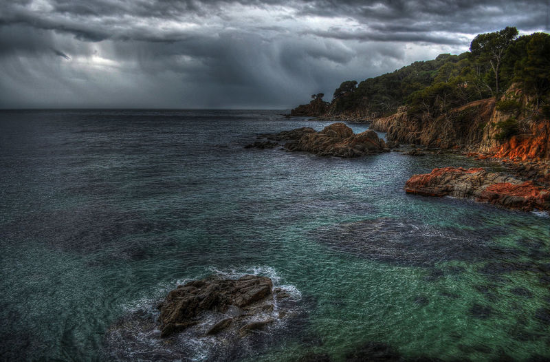 A weather front in March... Weather SPAIN Calella De Palafrugell Ocean Landscape_Collection Hdr_lovers Hdr_pics Clouds And Sky Travel Photography Landscape_photography Landscape_lovers