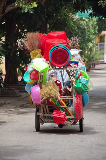 Local business in cambodia - selling and buying plastic goods
