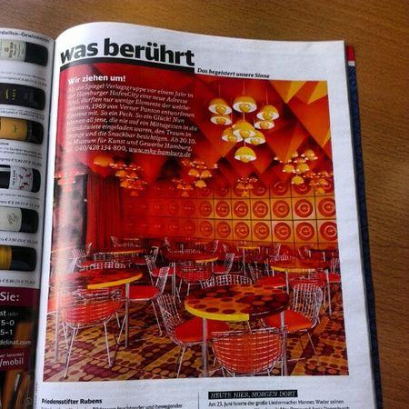 Wieso war ich da nie... Bzw wann fahr ich da hin #hamburg #panton #spiegel #kantine - www.mkg-hamburg.de Hamburg Spiegel Kantine Panton