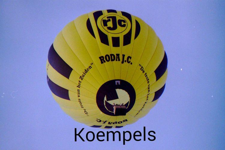 RodaJC Kerkrade Koempels Forever Soccer Voetbal Hot Air Balloon Yellow/black