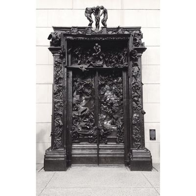 About to enter TheGatesOfHell Auguste Rodin 1840-1917