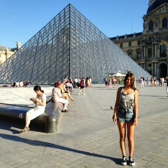 Louvre Paris Taking Photos Piramide That's Me Beautiful Girls Model Photography Popular Photos
