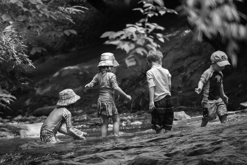 Boys Child Childhood Day Full Length Fun Girls Leisure Activity Nature Outdoors People Real People Togetherness Water