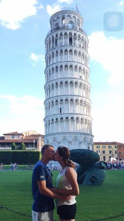 Pise with my boyfiend Famous Place Architecture Travel Destinations Tourism Tower Built Structure Leaning Tower Of Pisa