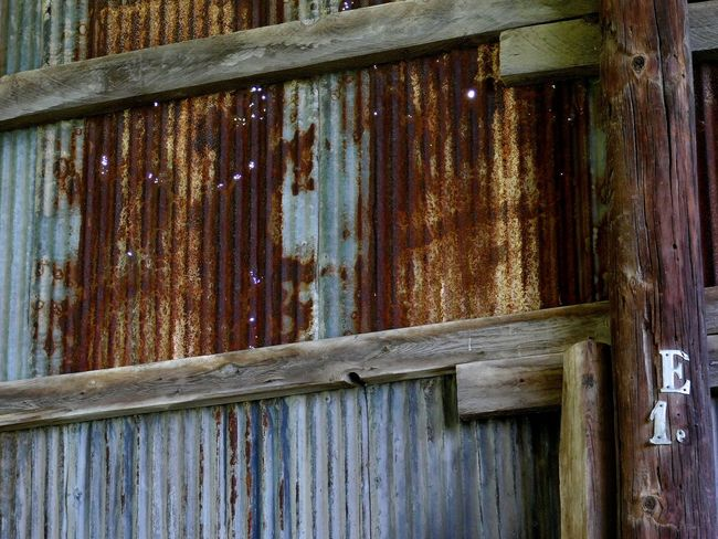 Rusty Tin Wall Old Barn Pinhole Light Rustic Barn