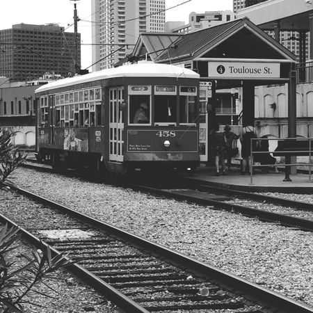 Black/white All Aboard Tram Travel THE BIG EASY! Flashback Check This Out Taking Photos