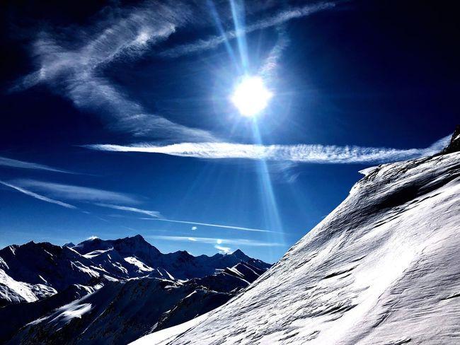 Powder Snow Swiss Alps Valais Valdanniviers Grimentz Zinal Snow Sun Nature Winter Mountain