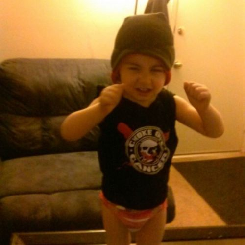 His Grandpa is Fighting Cancer! Chokeoutcancer Littleninjas Babyfighter Aiden CancerWarrior TerribleTwos Diapers