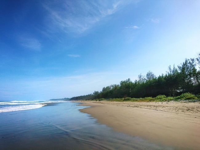 Sand Beach Water Sea Nature Beauty In Nature Sky Tranquility Tree Scenics Travel Destinations Vacations Clear Sky Tranquil Scene Travel Day Tourism Landscape Blue Beauty