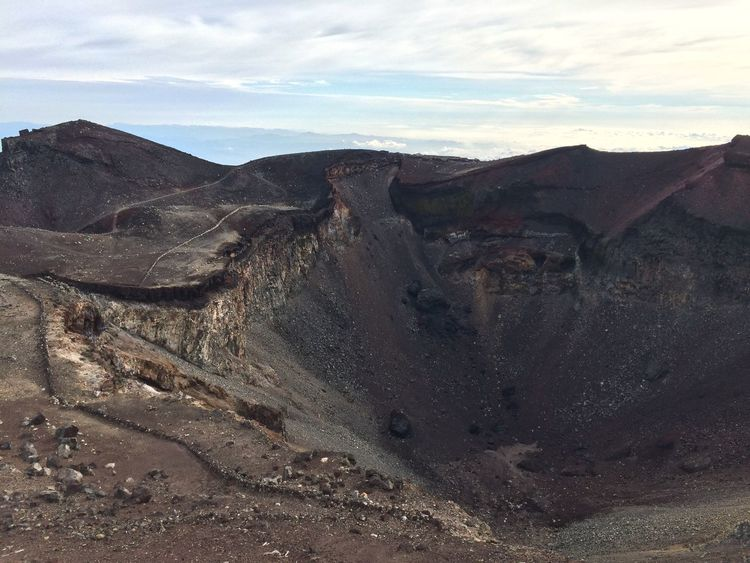 Mtfuji 富士山 山頂 剣ヶ峰 噴火口