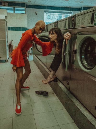 THESE are my friends EyeEm Best Shots Red Two People Washing Machine Urban Fashion Jungle