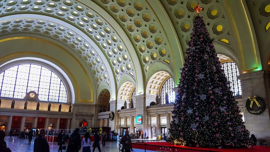 Happy Holidays, everyone. Washington, D. C. Union Station Washington DC Union Station Religion Arch Indoors  Architecture Spirituality Built Structure Men Real People Women Large Group Of People People Day