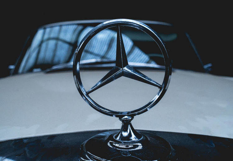 Benz Mercedes Mercedes Benz Star Reflection Close Up Close-up Focus On Foreground Garage Glass - Material Indoors  Mercedes Star Metal No People Old Car Old Mercedes Oldtimer Retro Styled Still Life Table Transparent Wonky Wonky Mercedes Star