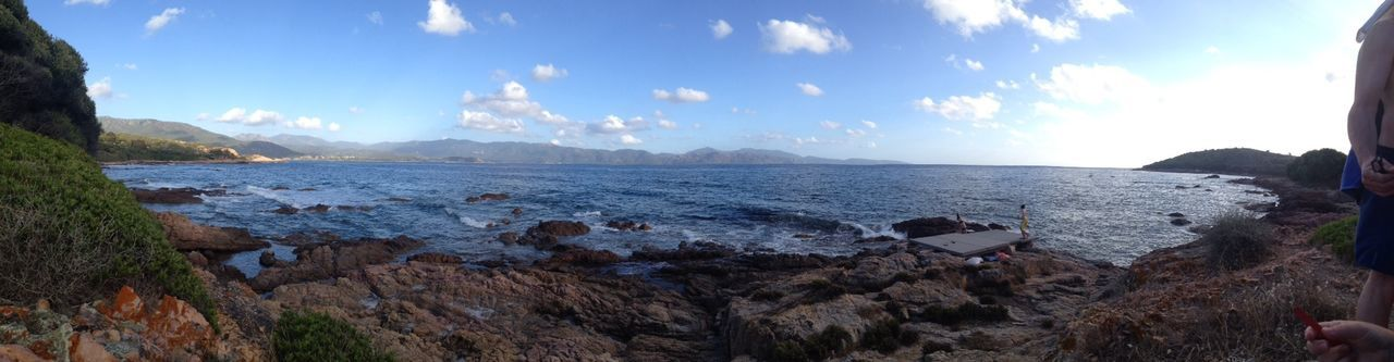 Summer Beach Corse Panorama