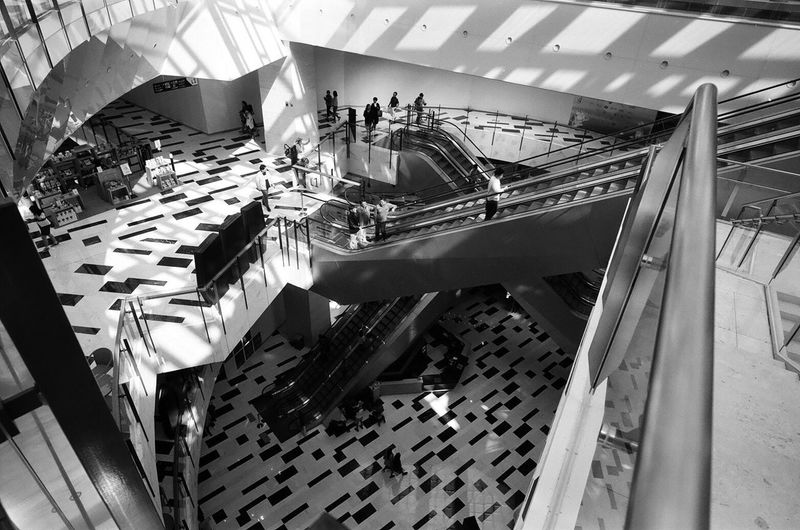 High Angle View 35mm Film Leicam4p Summicron 35mm Agfa Agfaapx100 Film Photography Black And White Monochrome Indoors  Seoul, Korea