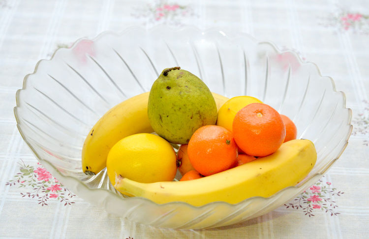 fruits Banana Bowl Close-up Day Food Food And Drink Freshness Fruit Glass Healthy Eating Indoors  Lemon No People Pear Pears Tangerine