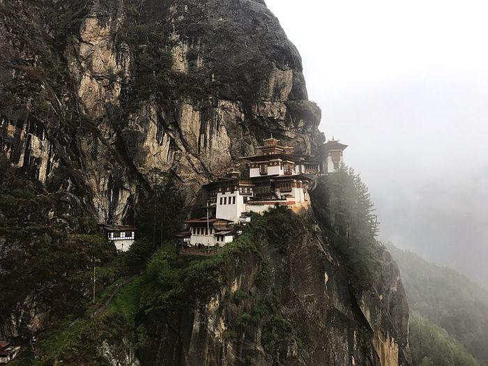 Historic building on mountain
