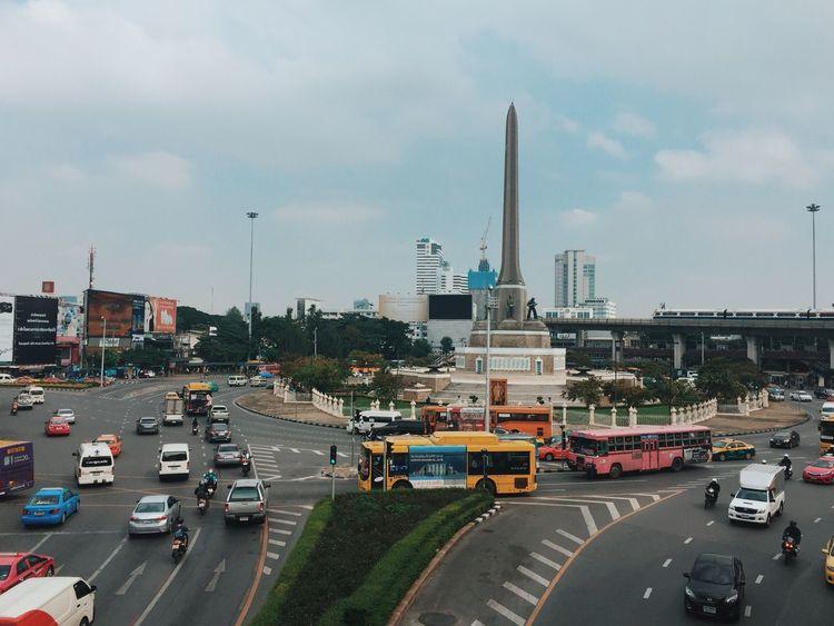 Victory Monument Transportation Sky