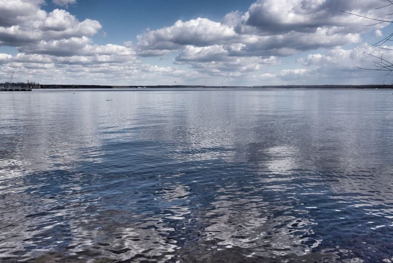 Lake Reflection Water Surface Mirror Clouds And Sky Repetition Blue Sky Landscape Daylight