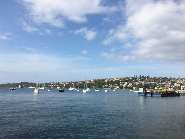 Rose bay Sydney, Australia Sky Water Sea Architecture Building Exterior Waterfront Outdoors Transportation City Day No People Beauty In Nature Nautical Vessel Scenics Nature Harbor Cloud - Sky Cityscape