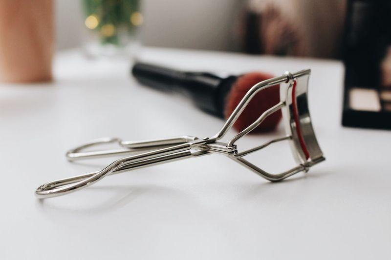 Close-up of eyelash curler