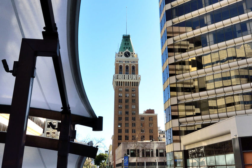 Tribune Building and Tower 1 Oakland, Ca. Home Of Oakland Tribune Newspaper 22 Story Architecture Italian Renaissance Clock Tower Style : Beaux Arts Baroque Spanish Colonial Architectural Detail Architecture_collection Roof Of Building Is Bronze Coated Ozided Green Architect: Edward T. Foulkes 1906 6 Story Main Building Tower: D.Franklin Oliver 1923 Damaged By 1989 Loma Prieta Earthquake Newspaper Relocated To Jack London Square Renovated 2001 And Tribune Returned 2006 Building Sold To Edward B. Kislinger Newspaper Permanently Moved 2007 Now Located On Broadway In Uptown District