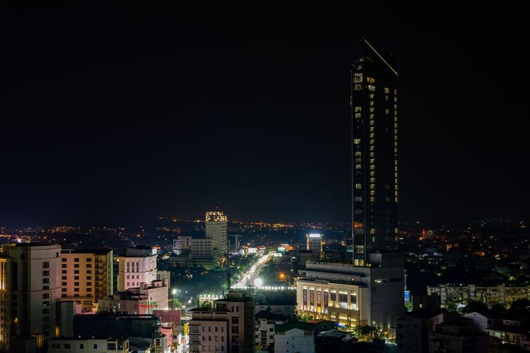 Night cityscape of Hue. City City At Night Cityscape Huế Night City Night Lights Nightphotography Vietnam Architecture Building Building Exterior Buildings Built Structure Financial District  Illuminated Luxury Modern Night Night View Nightlife Outdoors Residential District Skyscraper Tower Urban Skyline
