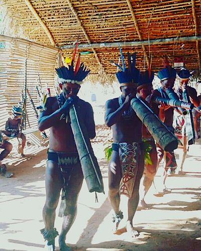 Amazônia Brasileira Tribo Indígena Amazonas Indiobrasileiro Indios Togetherness Full Length Adult Adults Only Walking Two People People