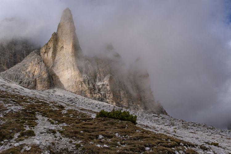 Beautiful landscape view at rifugio auronzo dolomite italy.