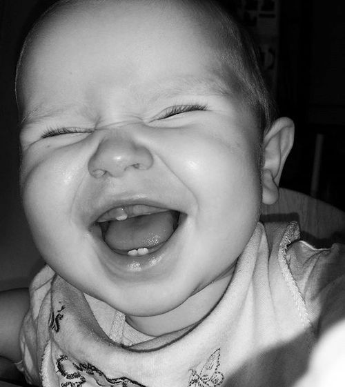 Love this Cheeky little face :) tooth number 3 is well established now. Riverbelle Teething Funny Biggrin Blackandwhite