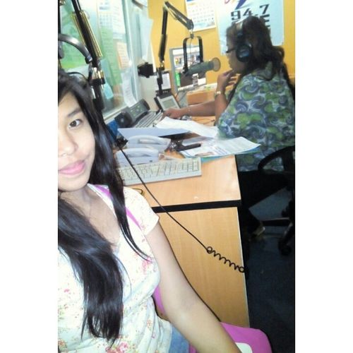 Yetersday after the enrollment for 2nd sem, bonding with mom at the radio station HEALTHADVOCACY