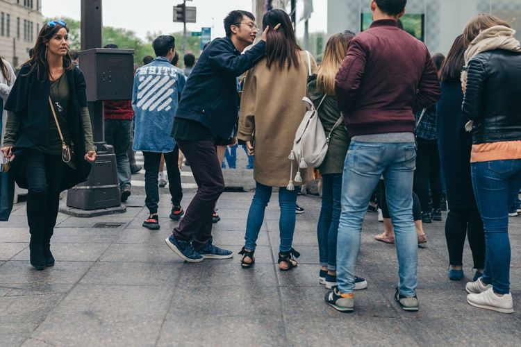 The Street Photographer - 2017 EyeEm Awards Casual Clothing City Togetherness Men City Life Outdoors Lifestyles Friendship People Day Women Adult Standing Crowd Young Adult Adults Only