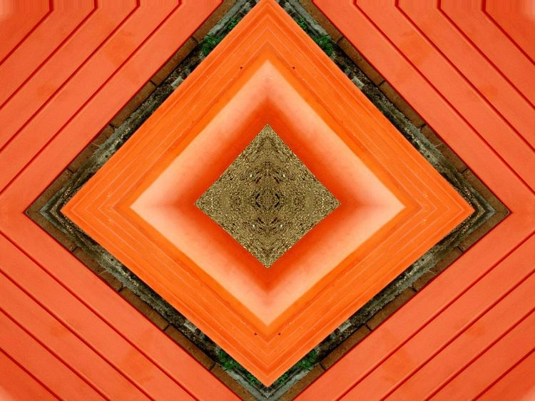 Red Pattern Orange Color Symmetry Abstract Multi Colored Backgrounds Repetition Full Frame Striped Complexity Intricacy No People Close-up Day Outdoors Place Of Heart