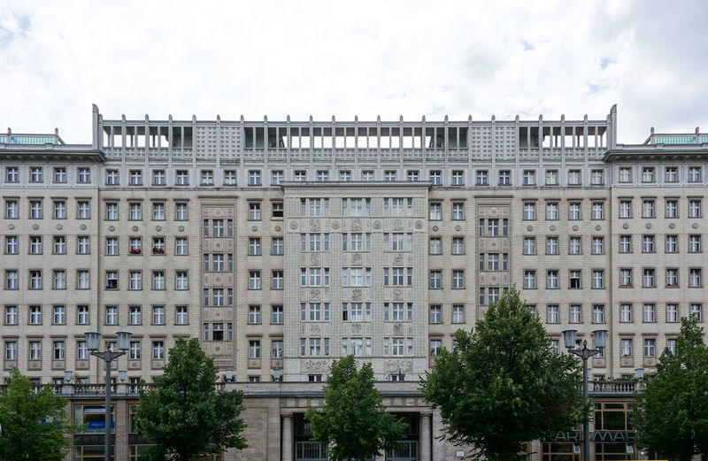 Berlin, Frankfurter Allee Building Exterior Architecture Built Structure Window Sky Tree No People Cloud - Sky Day Plant Building City History The Past Travel Destinations Outdoors Low Angle View Residential District Apartment Frankfurter Allee Stalinallee DDR Zuckerbäckerstil
