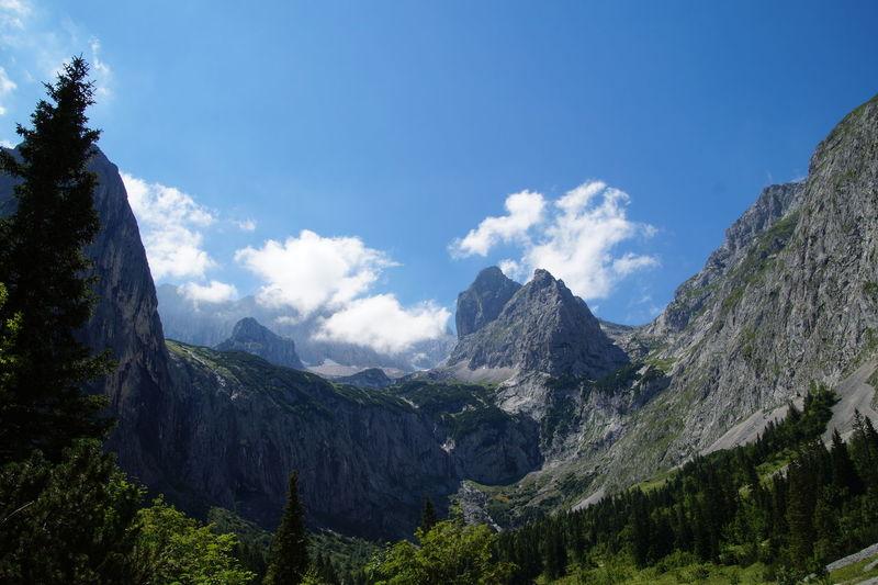 Rocky mountain against sky