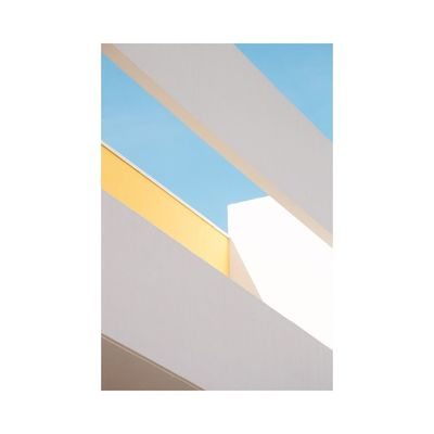 Architecture Abstract Geometric Shape Graphic Sunny Building Exterior Minimalism Photography Contemporary Art Fine Art Photography Natural Light Light And Shadow Colors Pastel Power
