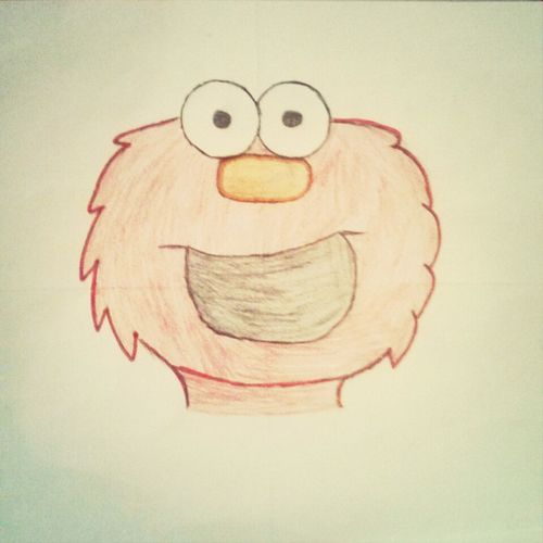 I Was Bored And Decided To Draw Elmo .