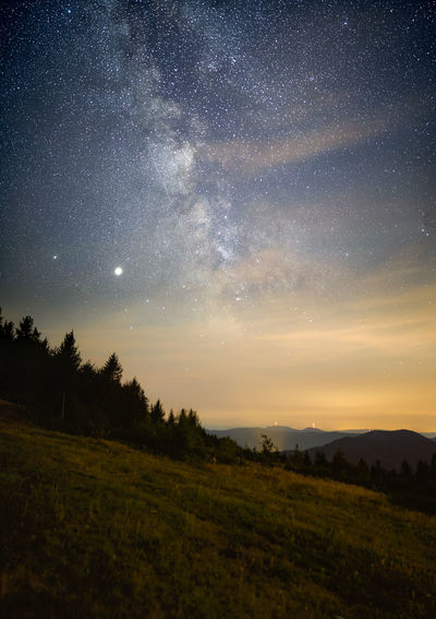 Milky way as seen from the  black forest