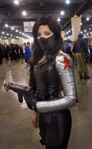 Comiccon Cosplay Cosplayer Costume Female Marvelcomics WinterSoldier Wizard World